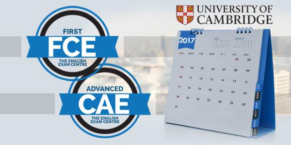 Calendario exámenes cambridge 2017