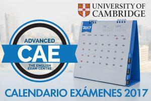 Fechas 2017 de examen para Cambridge English: Advanced (CAE)
