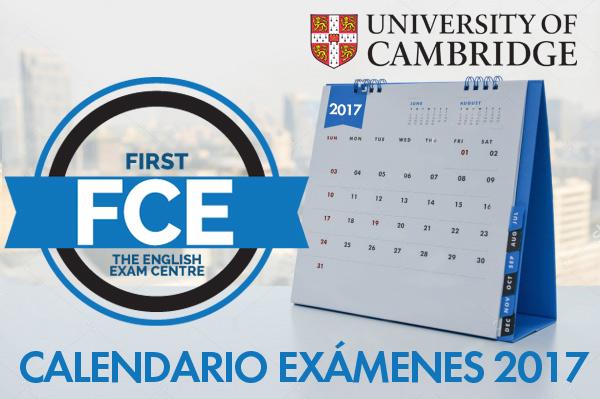 Fechas 2017 de examen para Cambridge English: First (FCE)
